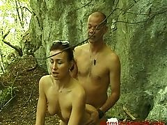 Lucky voyeur fucks sexy girl outdoor 2 of 2
