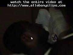 Quickie black ebony cumshots ebony swallow interracial
