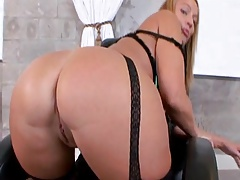 Busty milf rides his face