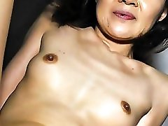 50s Japanese Mature Sucks and Fucks
