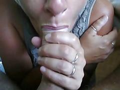 Mature wife sucks my dick head