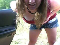 Webcam amateur crazy chick outdoor fun