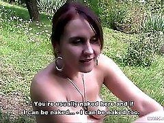 Bitch STOP Tattooed hooker Eva fucked outdoor