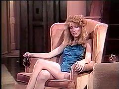 Retro stockings girl hardly drilled