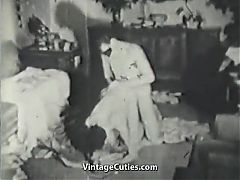 Bisexual MMF Threesome on Its Way to Orgasms 1930s Vintage