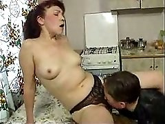 Russian Mom Gets Fucked by Young Boy by snahbrandy