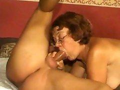 Oma Threesome Fucking BVR