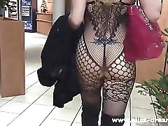Flashing naked under my transparent body in a hotel
