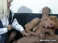 Mature german riding a cock