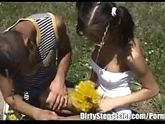 Outdoor Fun With Slutty Stepsis