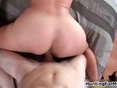 Busty blonde milf goes crazy riding an hard cock by hun