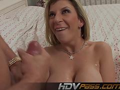 Horny MILF Sara Jay Sucking Big Pole