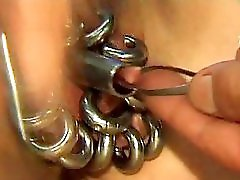 My Sexy Piercings heavy pierced mature slave BDSM