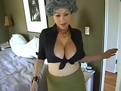 Caught by milf and helped
