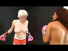 Scarlett vs Goldie Topless Boxing full requested