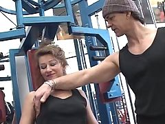 Mature get assfucked by her trainer in gym anal troia