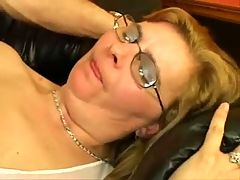 Mature Cleaning Glasses with Cum by TROC