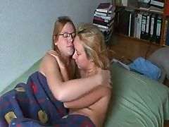 Lesbians strapon and cum covering