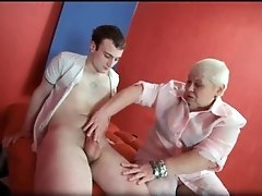 Sexy blonde milf doctor lucia blow stiff rod and gets b