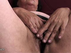 Real grandmother and her very old vagina