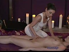 Massage Rooms Stunning lesbian models have intense sensual orgasms