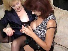 Hot Banging Grannies Kitty Foxx and Crimson Love