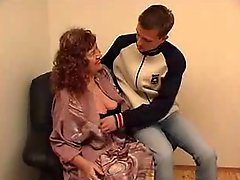 Wonderful granny July jerk off a young boy