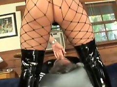 Face Sitting MILF Dominatrix Uses Her Slave