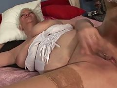 Granny in stockings Toys and Fingers