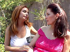 Hairy Milf enjoys a big boobed teen!