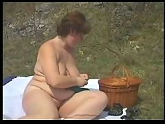 Horny Fat Chubby GF with Pink Pussy love fucking Outdoors