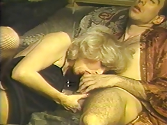 2 guys feed their cocks to mature blonde in 3 way