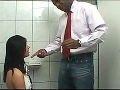 Nasty Student Anal on toilet BBC creampie A75