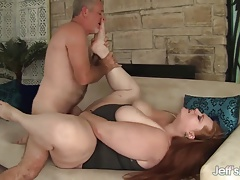 Plumper queen Julie Ann More gets her pussy pounded hard