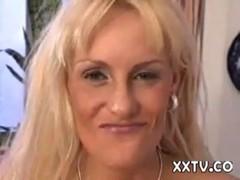 Blond Danish houswife