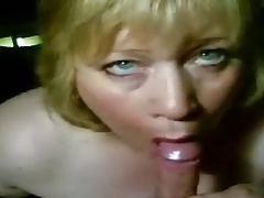 Blowjob by blonde mature home porn