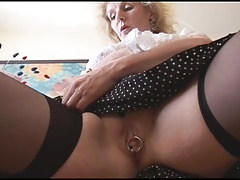 Horny big tit mature tease 4