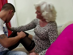 Granny slut suck and fuck young hard cock