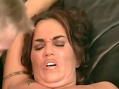 Busty mature sreams while fisted and fucked
