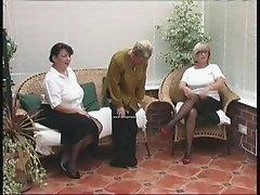 Vintage Stripping from three Mature Village Ladies
