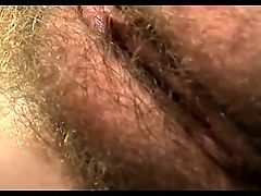 Close Up On Young Hairy Juicy Clit BVR