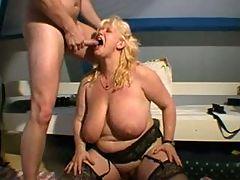 My chubby girlfriend Chantal with her ex husband