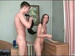 Teen sex in a bedroom