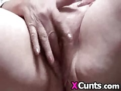 Hairy bbw mature gets fingered