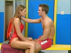 Lifeguards having sex in the locker room