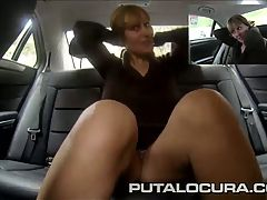 PUTA LOCURA Big tits milf fucked in a taxi cab