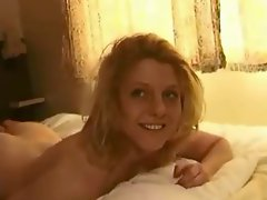Amateur blonde homemade creampie