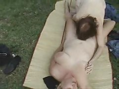 Horny mature lesbians outdoor