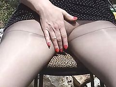 Pantyhose and Dr Scholls Tease