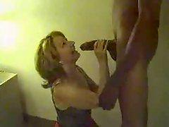 White Wife Sucking Huge Black Cock